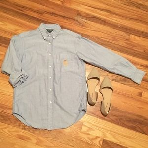 || Ralph Lauren Collection light blue button down
